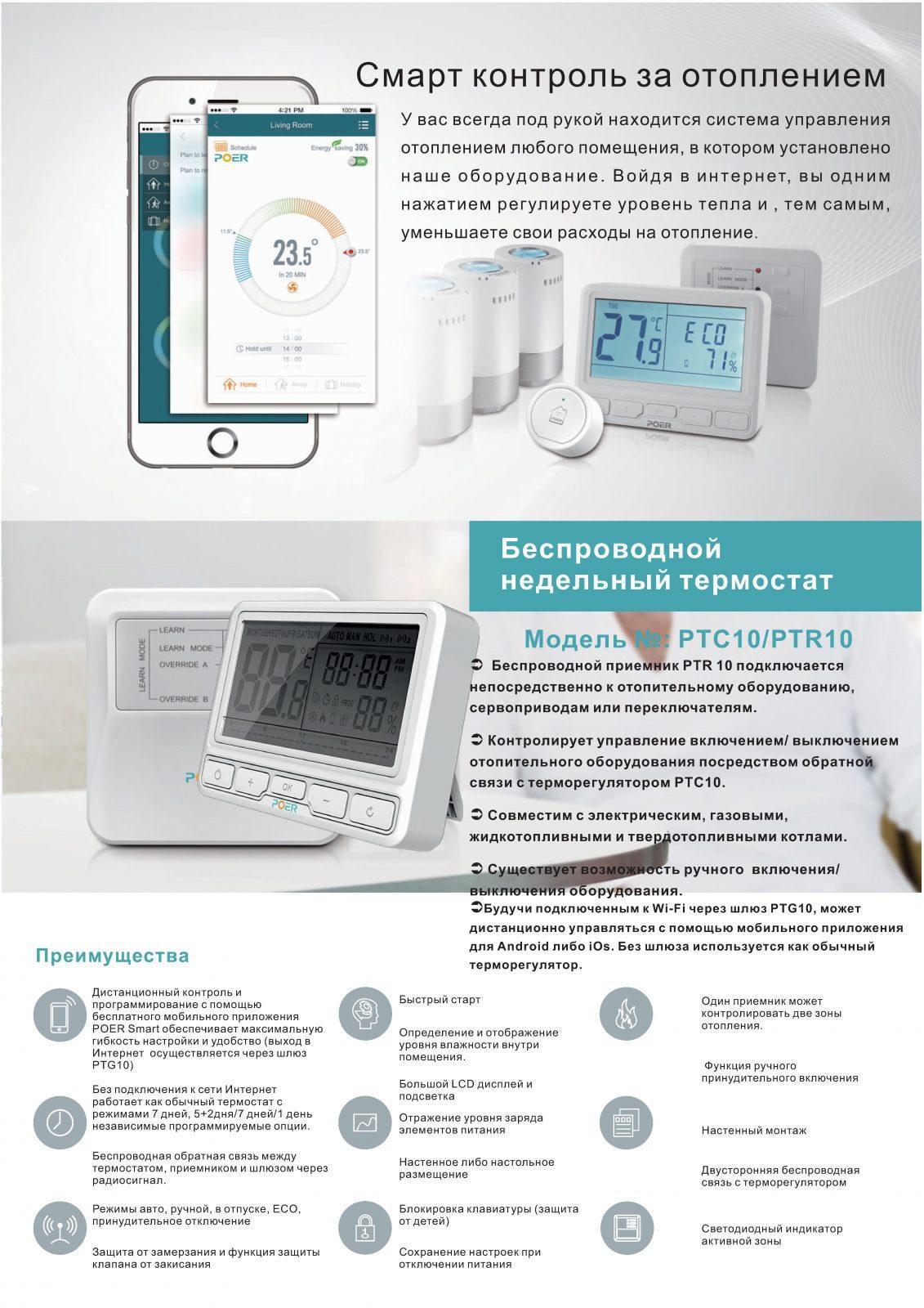 Беспроводной комнатный термостат - купить беспроводной комнатный термостат для газовых котлов отопления.